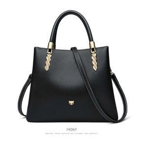 NWT - Foxer Rovy Black Leather Crossbody/Handbag